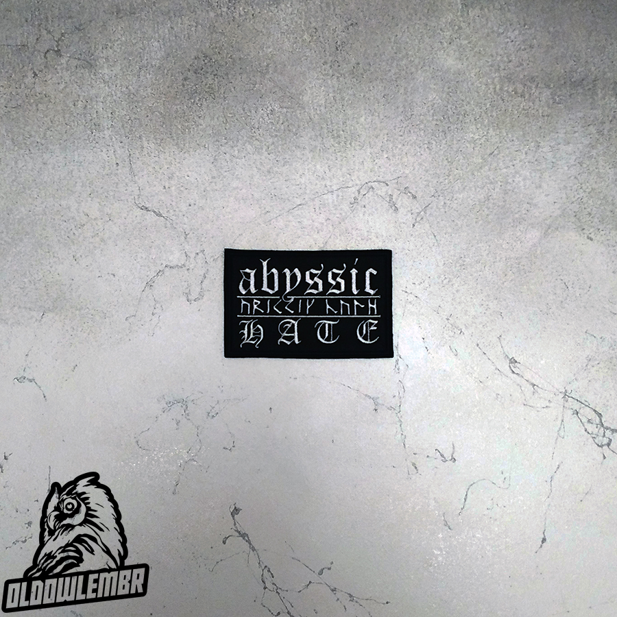 Patch Abyssic Hate Black Metal band.