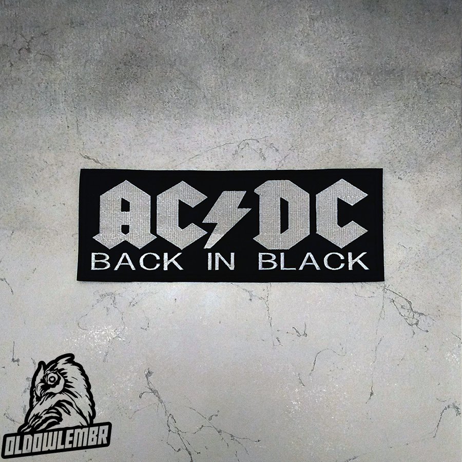 Big Back patch AC/DC Back in Black band.