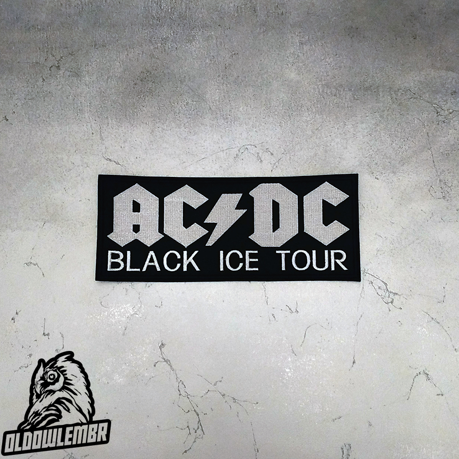 Big Back patch AC/DC Black Ice Tour band.