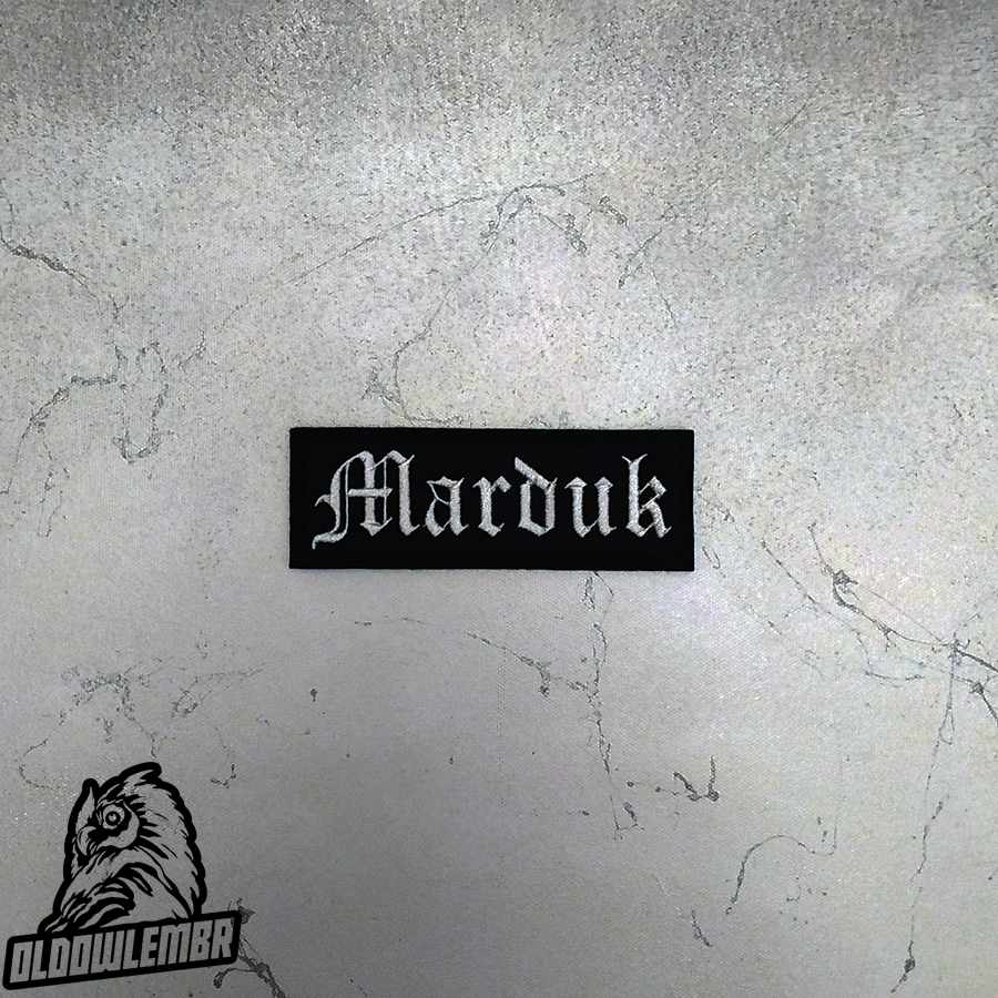 Patch Marduk Black Death Metal band.