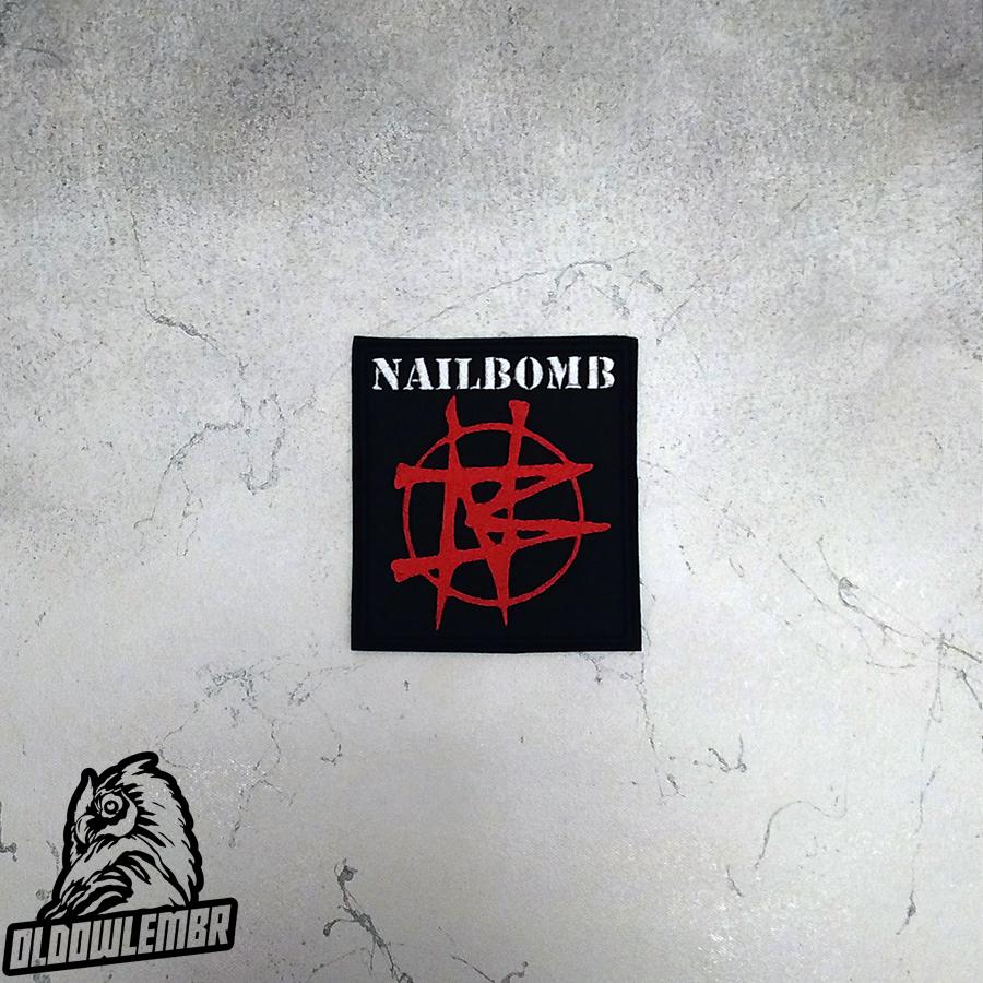 Patch Nailbomb Industrial Thrash Metal Band.