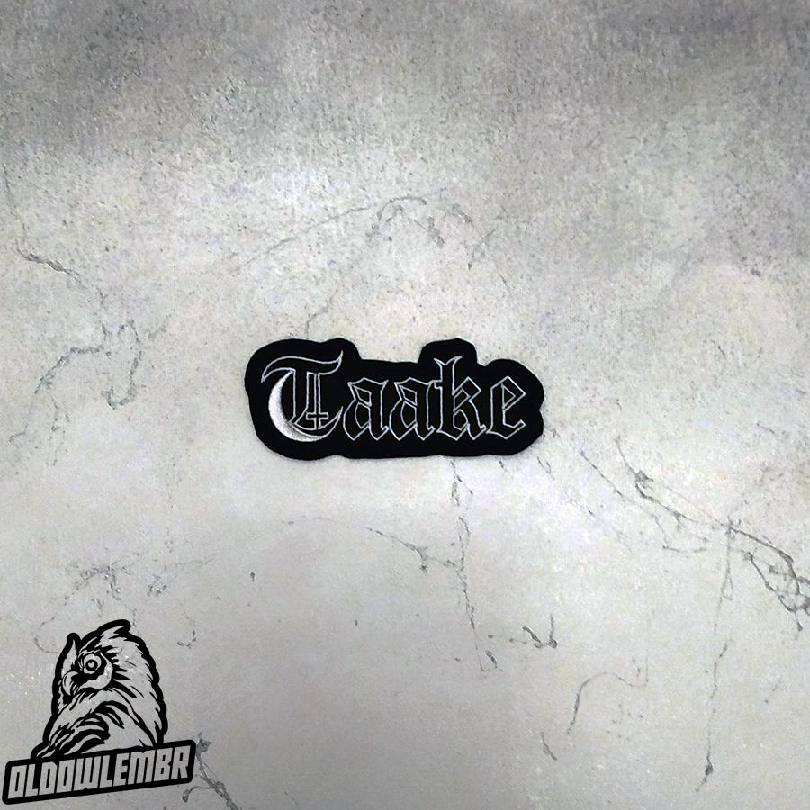 Patch Taake txt Black Metal band.