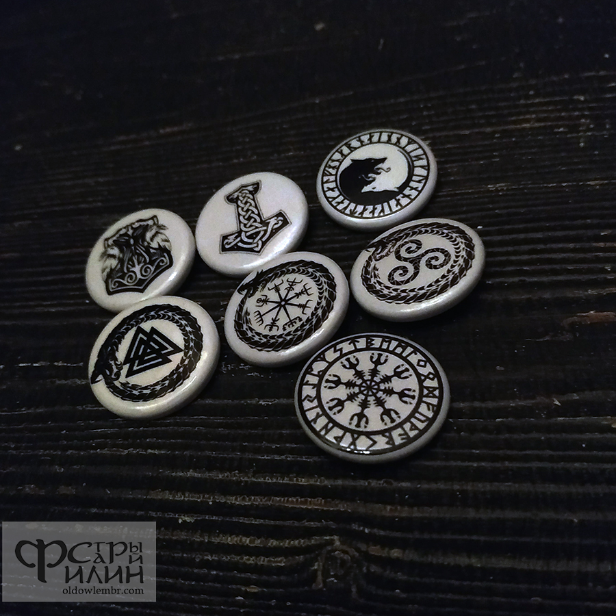 Viking Buttons Pins