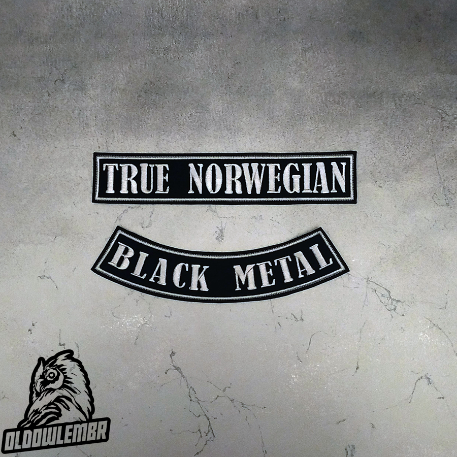 Big Back set patch True Norwegian Black Metal.