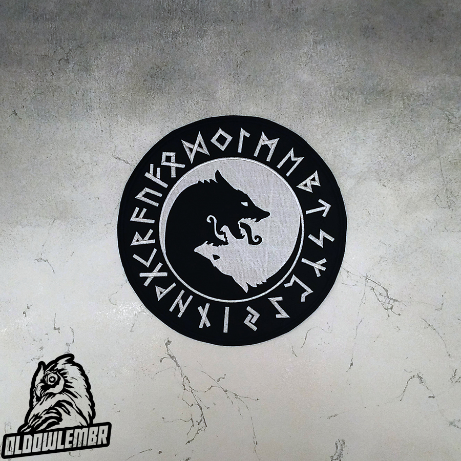 Big Back patch Viking Wolves & Runes.