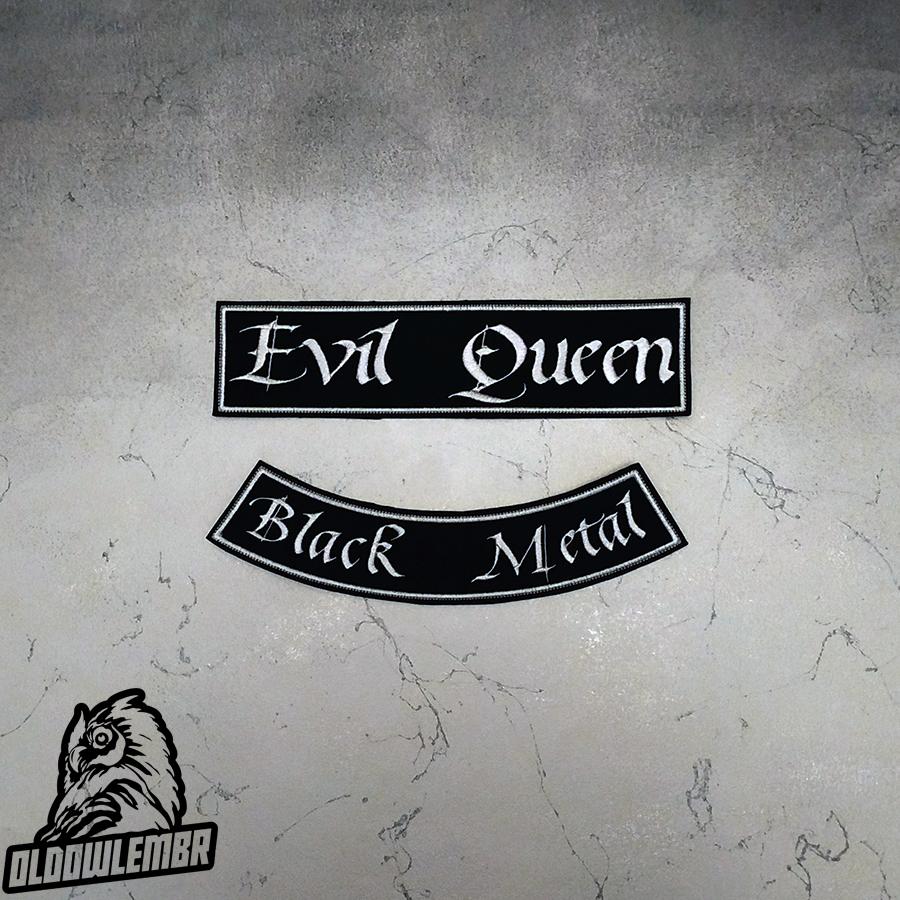 Big Back set patch Evil Queen Black Metal.