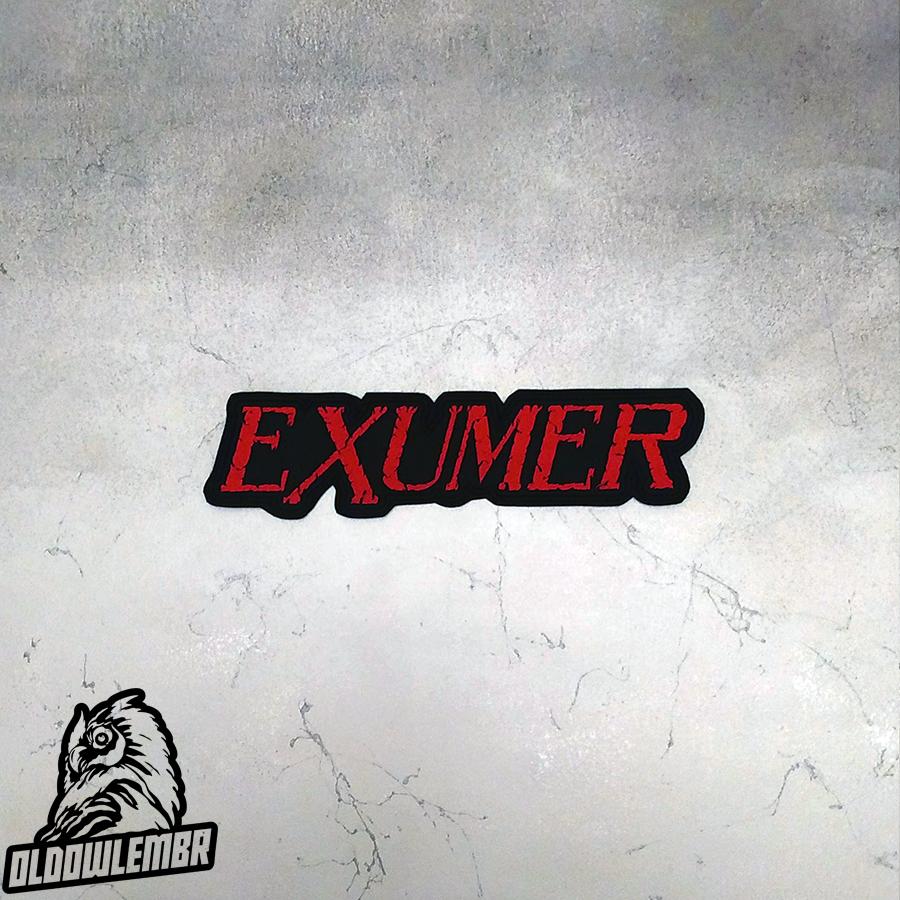 Big Back patch Exumer Trash Metal band.
