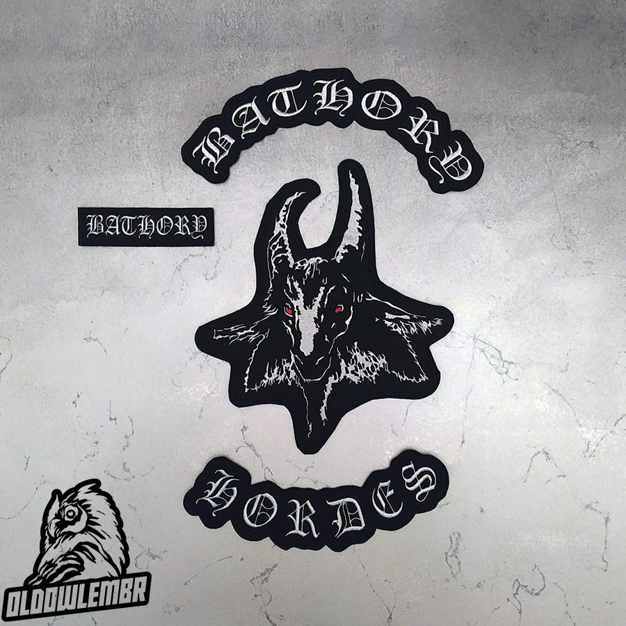 Big Back patch set Bathory Hordes Black Viking metal band.
