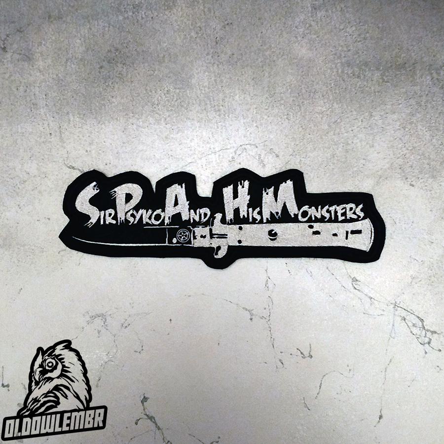Big Back patch Sir Psyko & his Monsters Psychobilly band.