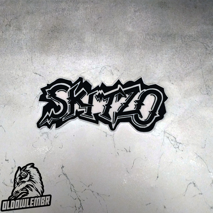 Big Back patch Skitzo Psychobilly band.