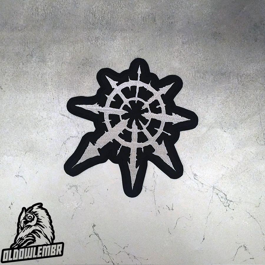 Big Back patch symbol Chaos Star.