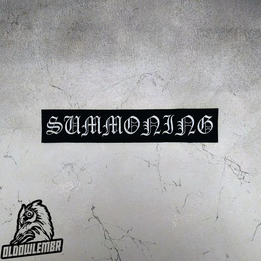 Big Back patch txt Summoning Black Metal band.