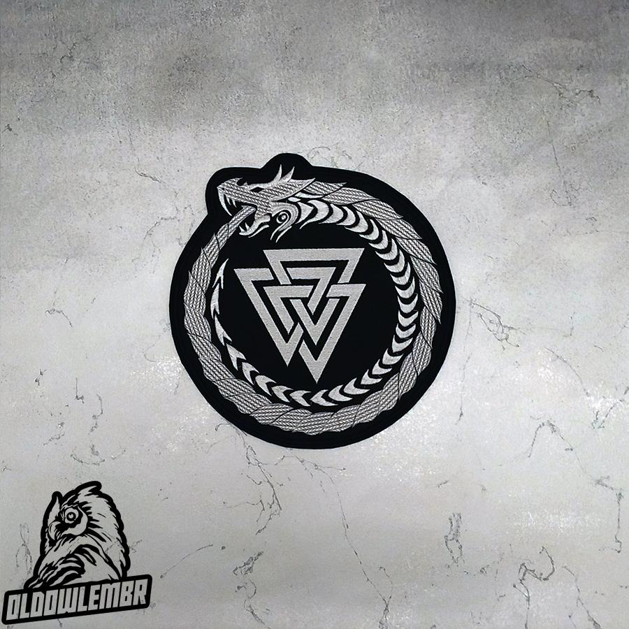 Big Back Patch Viking Jormungand Valknut.