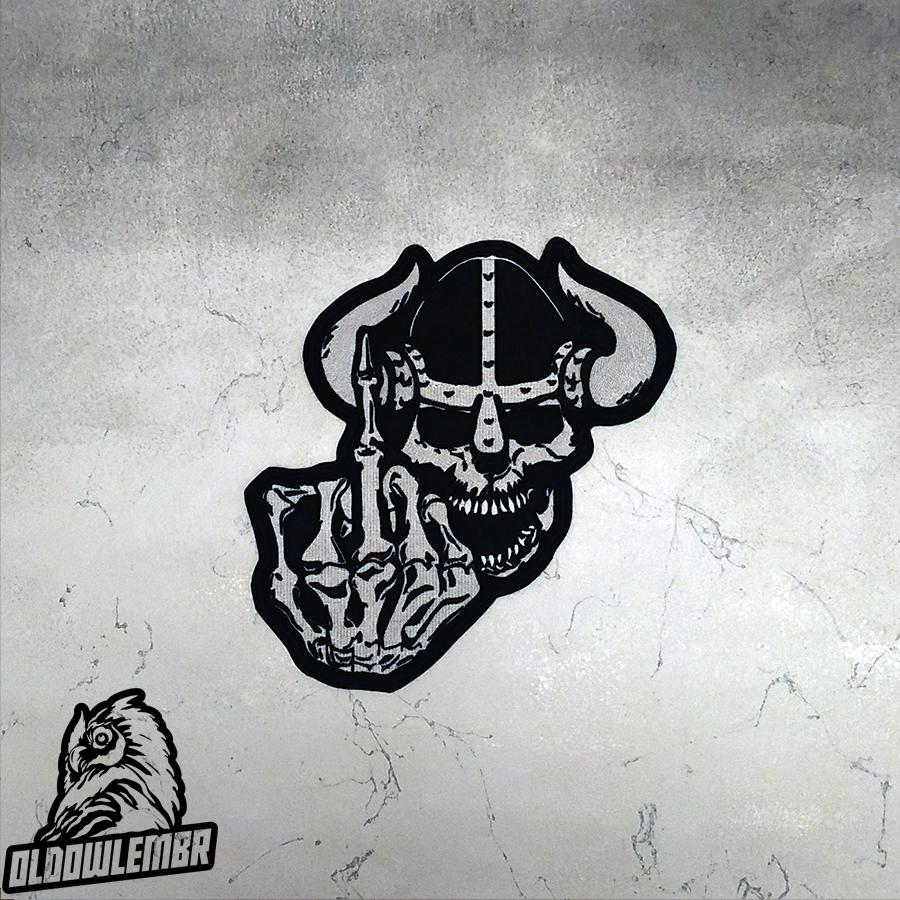 Big Back patch Viking Skull Go to Valhalla.