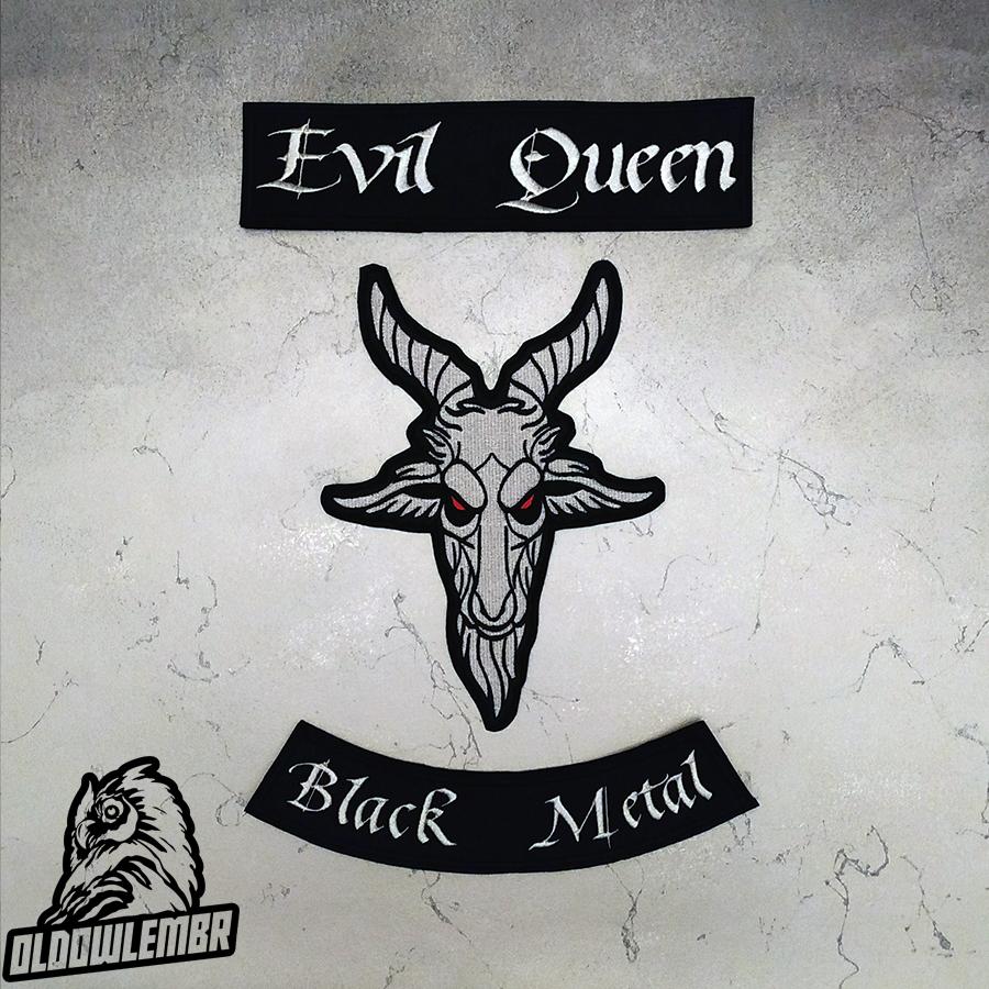 Big Back set patch Evil Queen + Goat Black Metal.