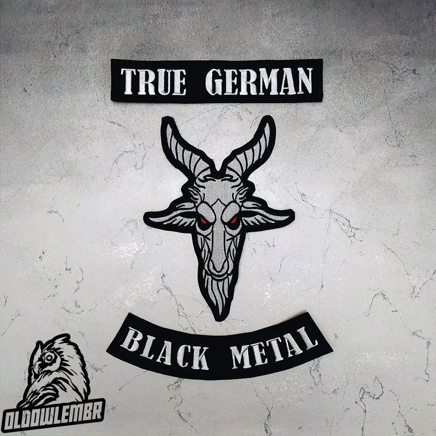 Big Back set patch True German + Goat Black Metal.