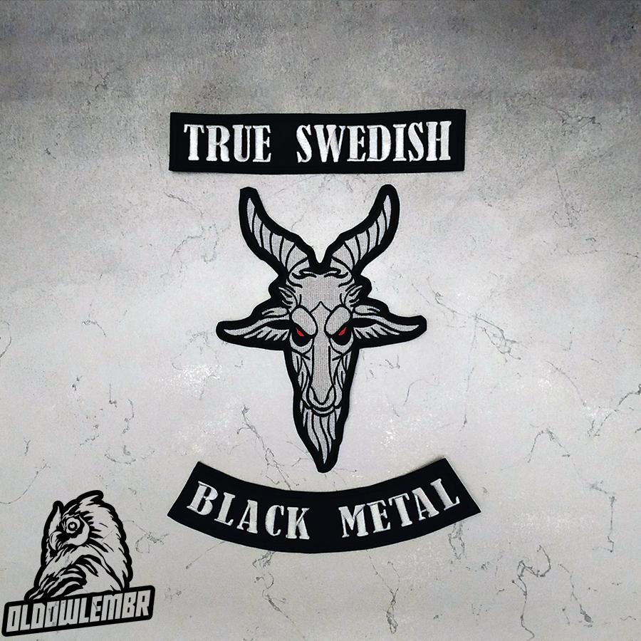 Big Back set patch True Swedish + Goat Black Metal.