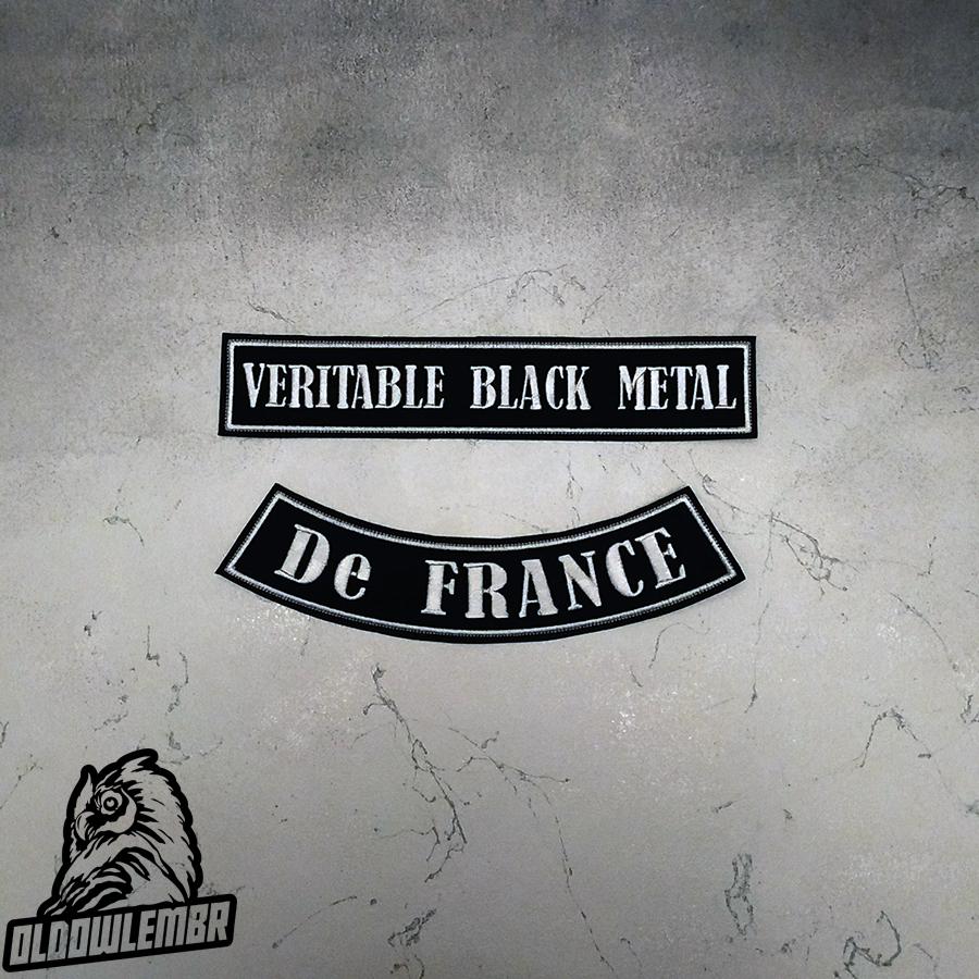 Big Back set patch Veritable Black Metal de France.