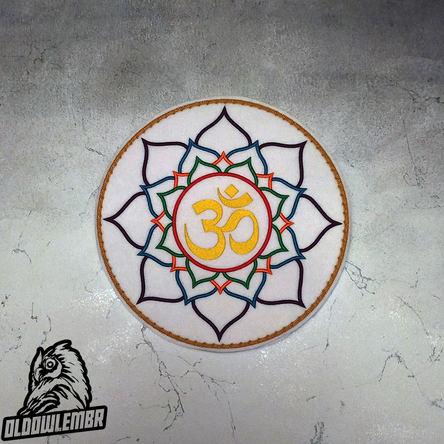 Patch Esoteric symbol Lotus Mantra Om.