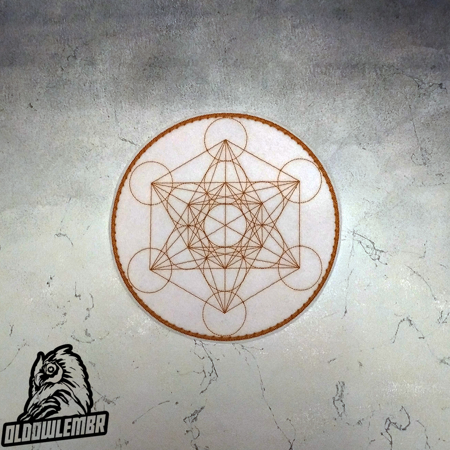 Patch Esoteric symbol Cube Metatron.
