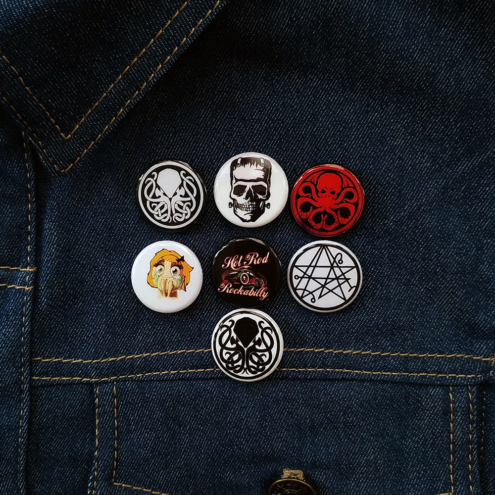 Funny Symbols Buttons Pins.