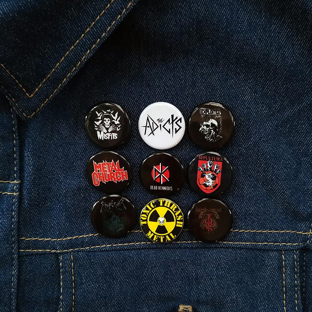 Music Metal Buttons Pins.