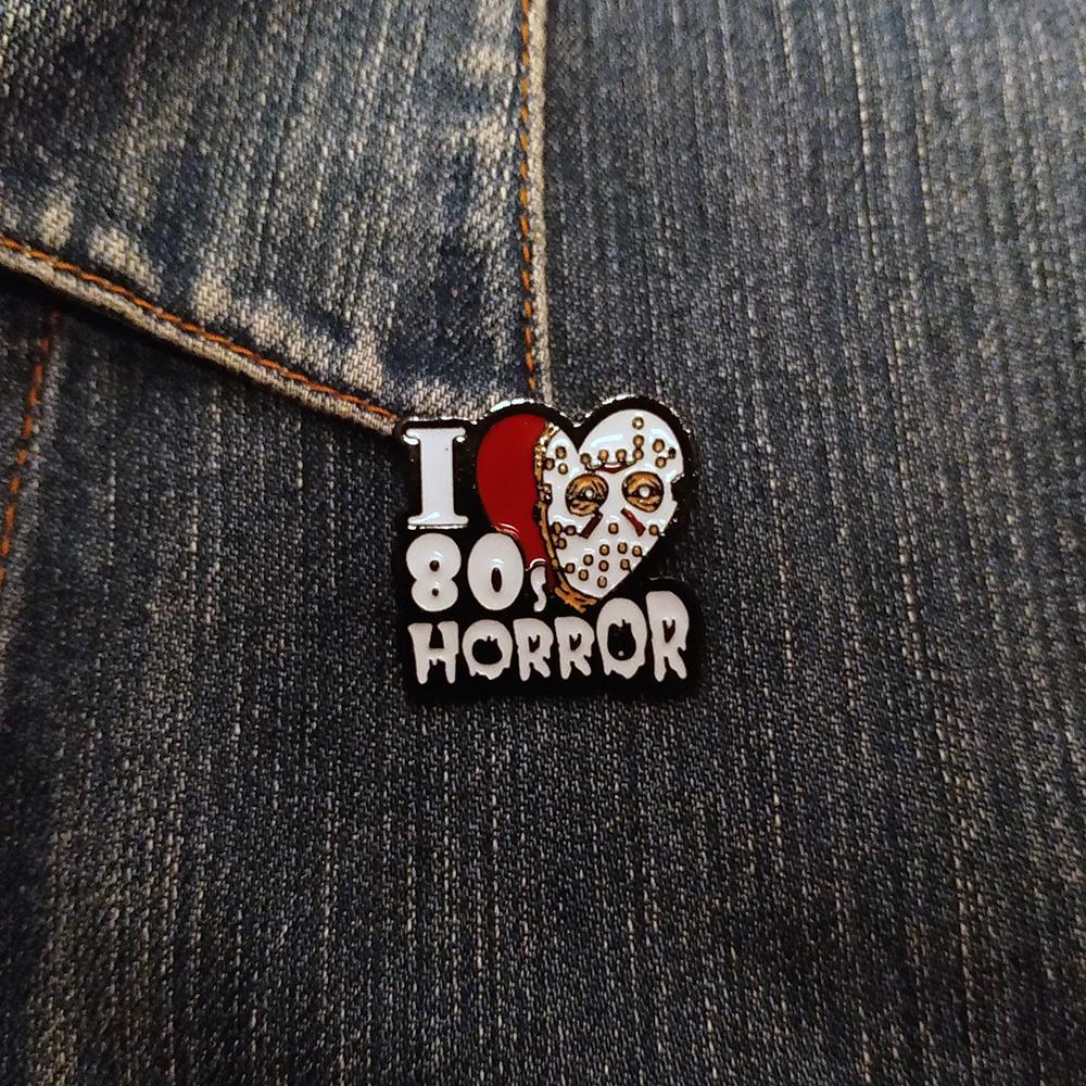 Enamel  Pin I Love Horrors 80's