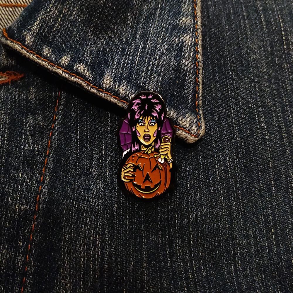 Enamel Pin Queen Pumpkin