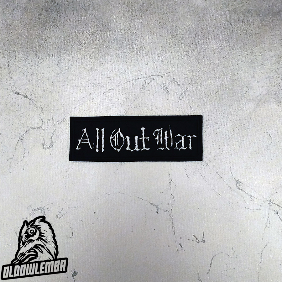Patch All Out War Metalcore Thrash Metal band.