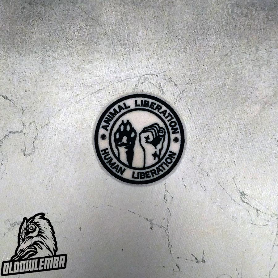 Patch Animal Liberation Human Liberation ALF.