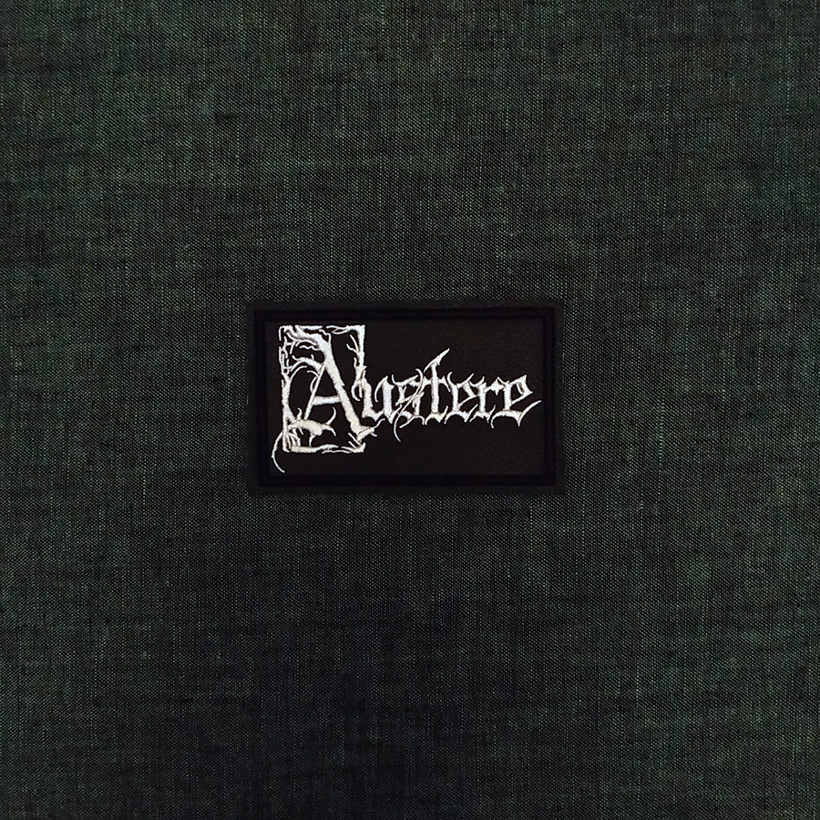 Patch Austere Depressive Black Metal band on artificial leather.