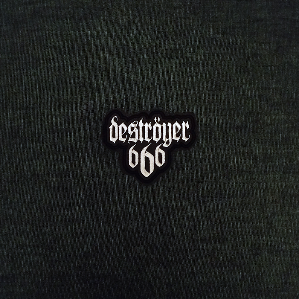 Patch Destroyer 666 Black Metal band on artificial leather.