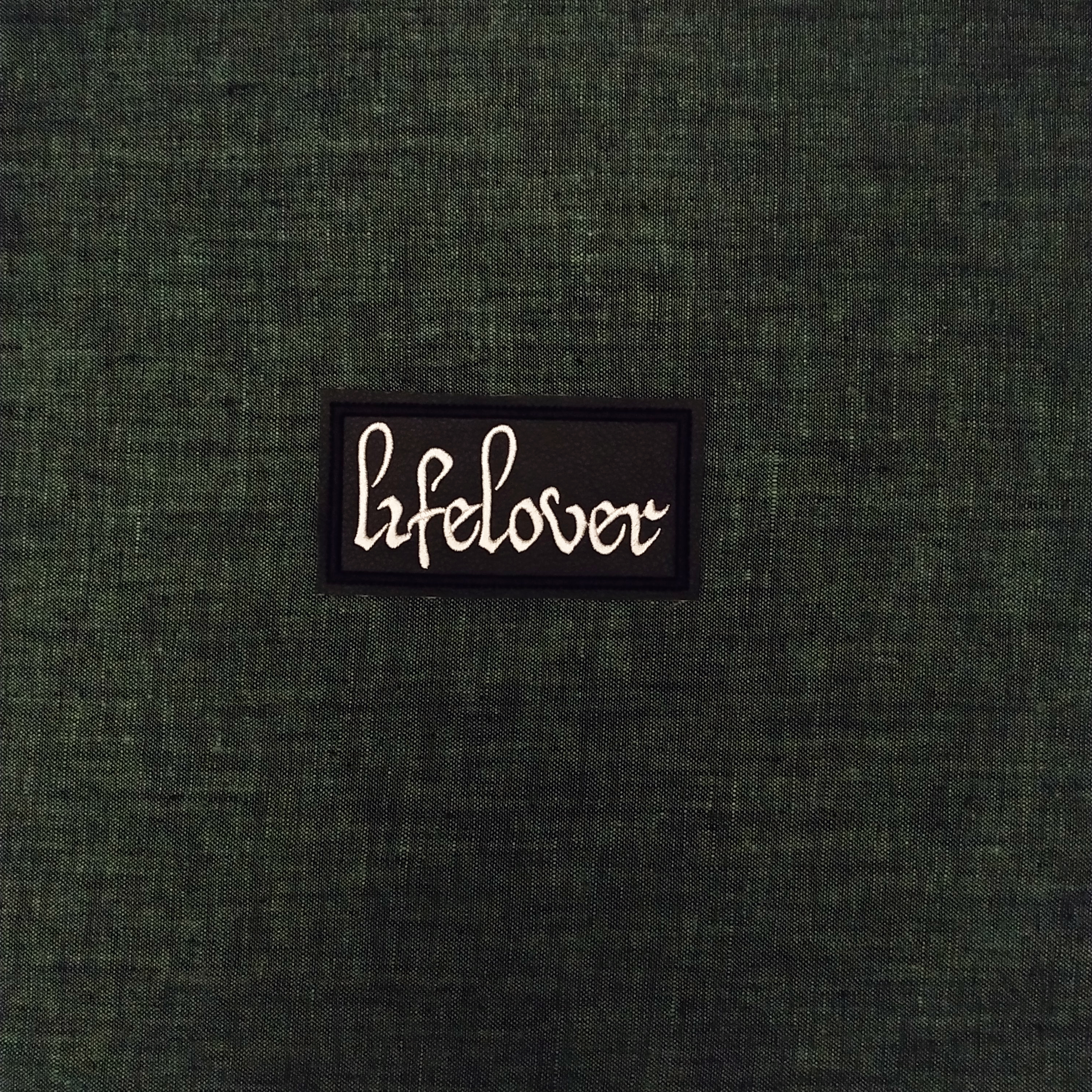 Patch Lifelover Black Metal band on artificial leather.