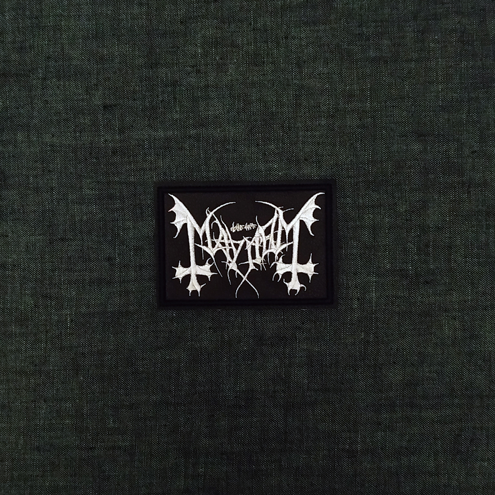 Patch Mayhem Black Metal band on artificial leather.