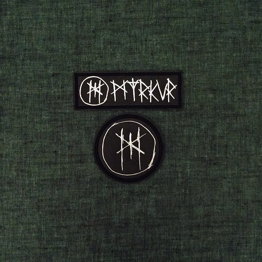 Patch Myrkur Black Metal band on artificial leather.