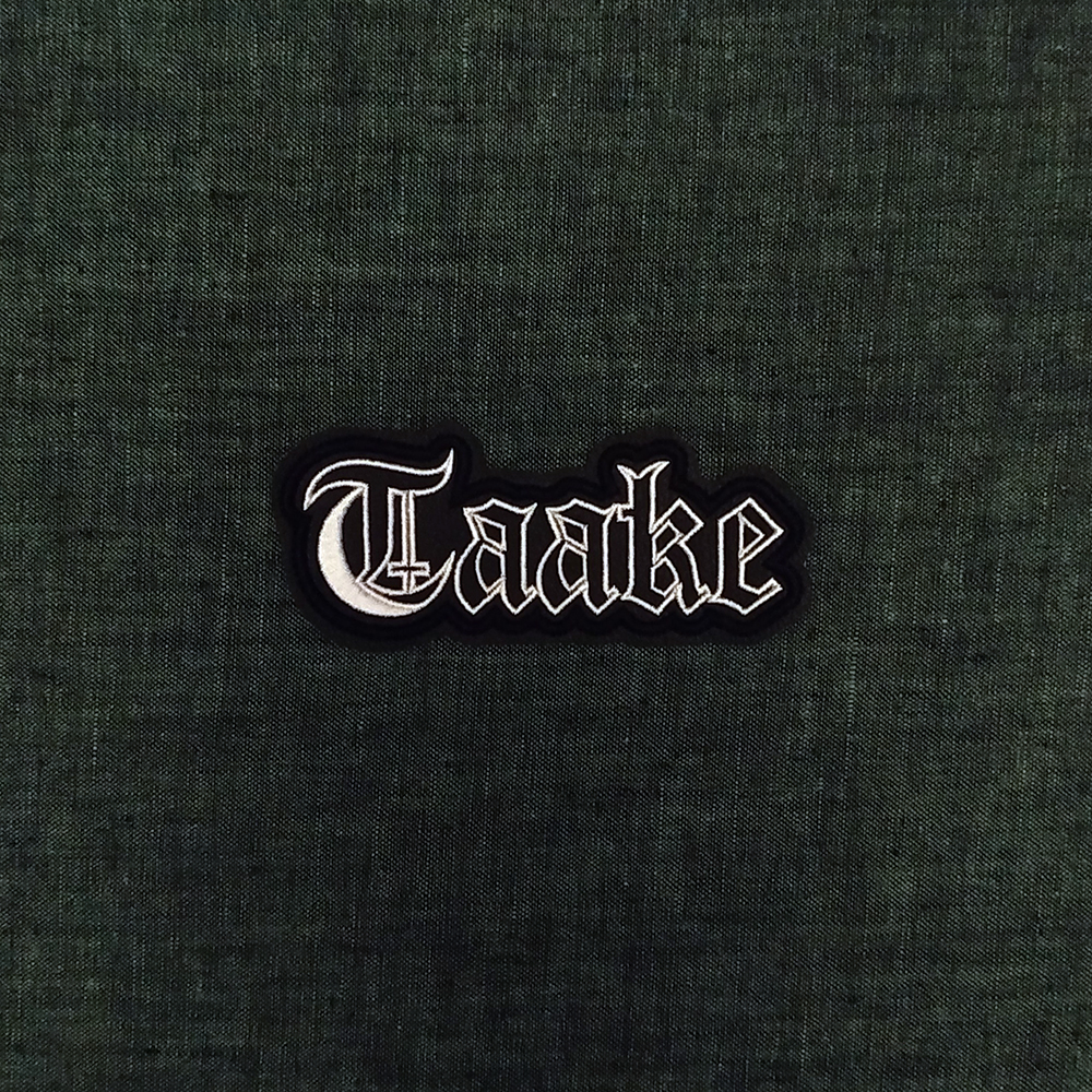 Patch Taake Black Metal band on artificial leather.
