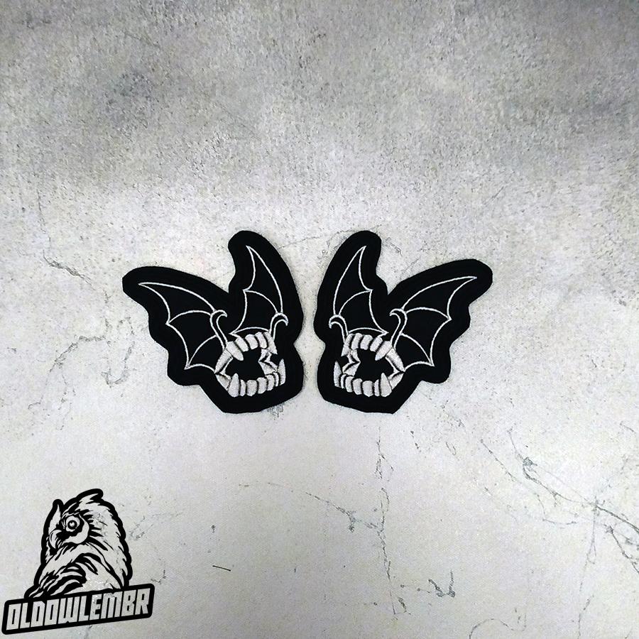 Patch Bat Bite Cartoon Pin Up.