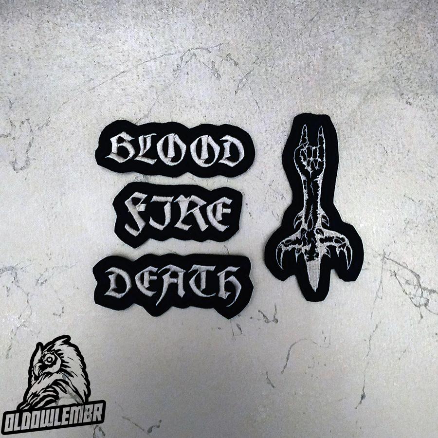 Patch set of Bathory Black Viking Metal band.