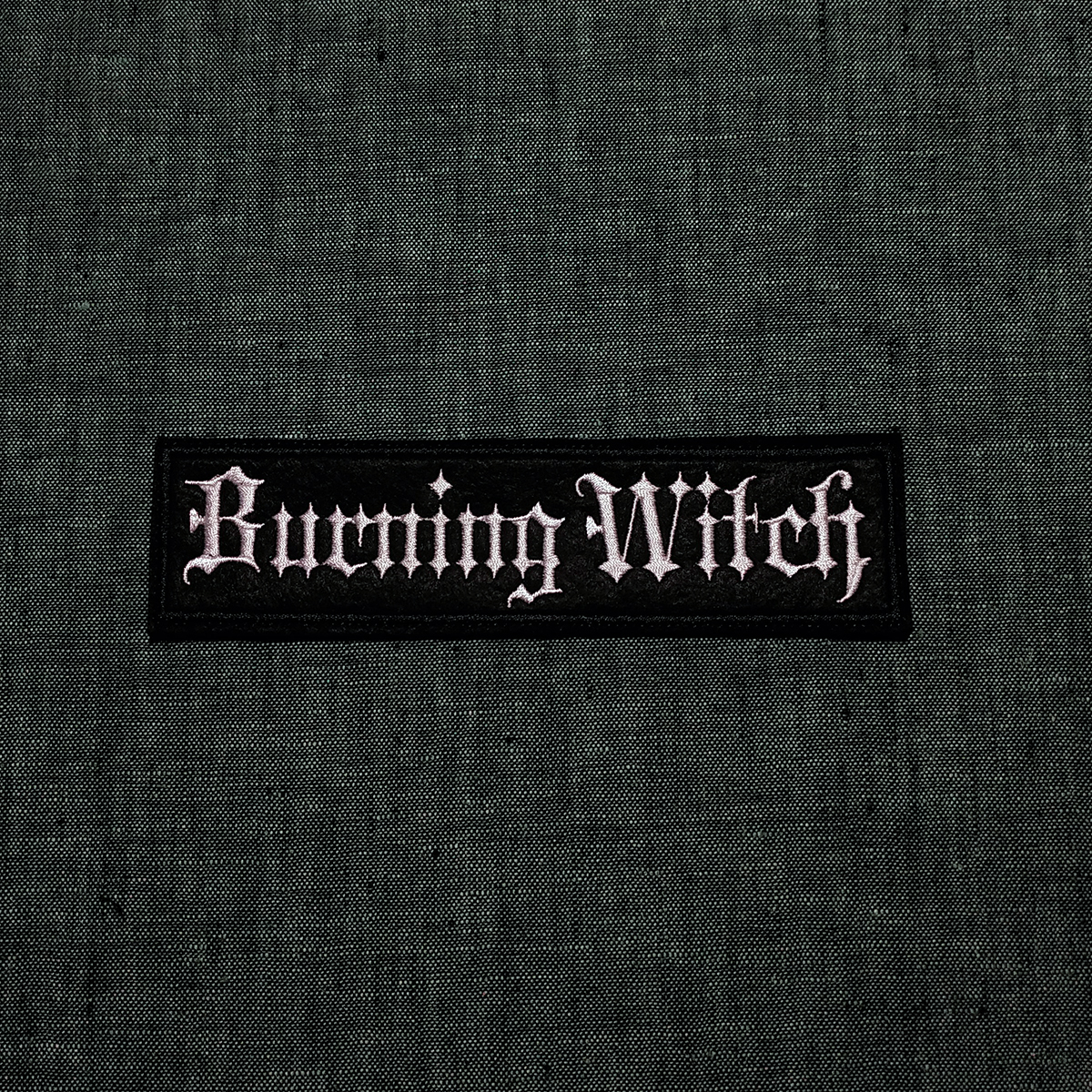 Patch Burning Witch doom metal band.