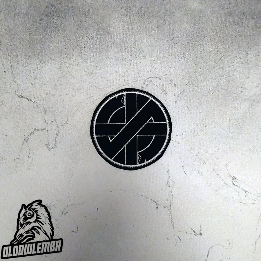 Patch Crass Anarcho Punk band.