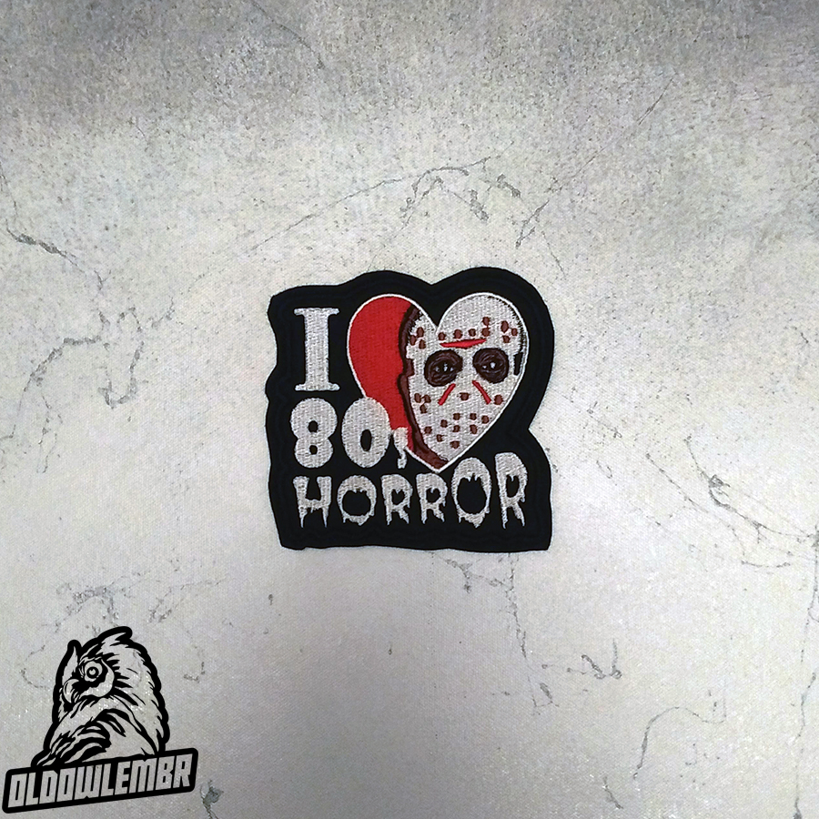 Patch I Love Horror 80's
