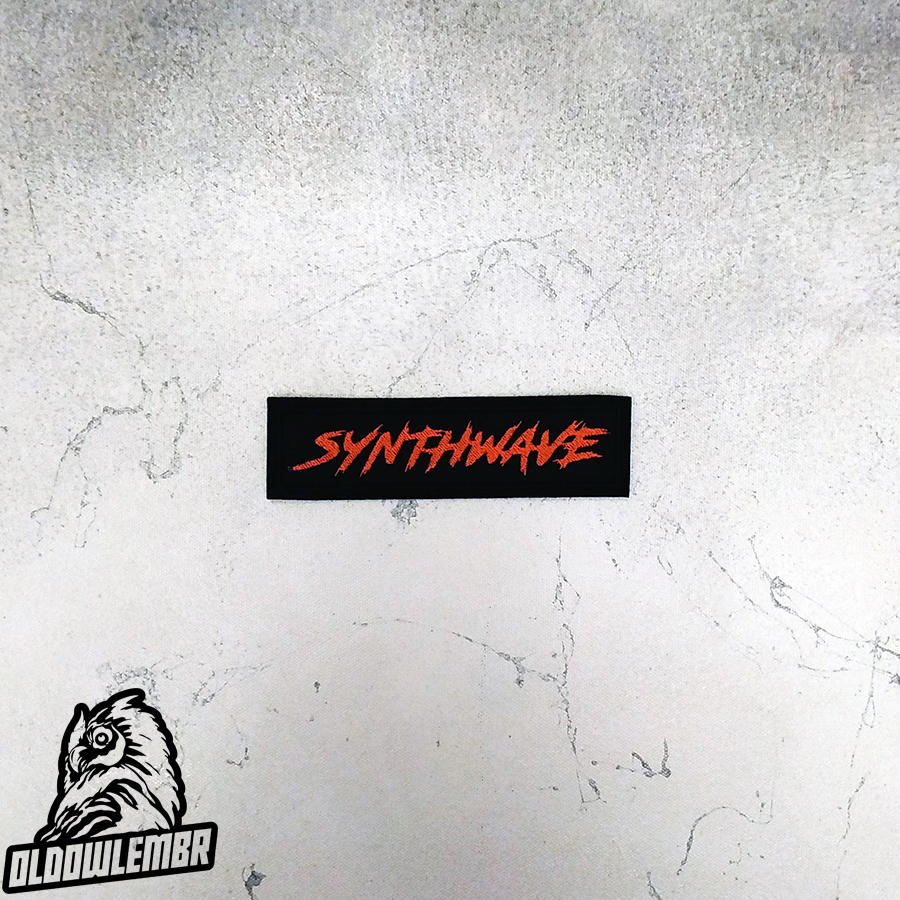 Patch Synthwave txt retrowave retro music.